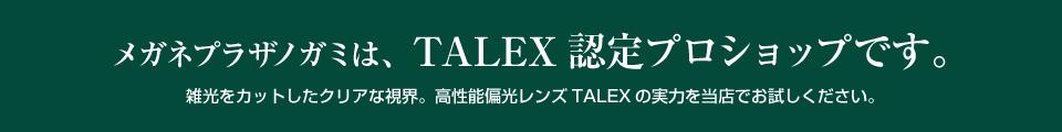 メガミプラザノガミは、TALEX認定プロショップです。